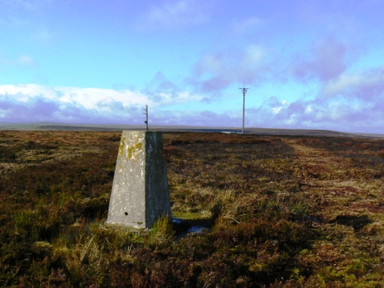 The trig point on Horseshoe Hill