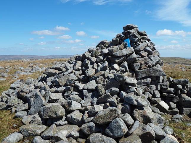 The summit cairn on Mickle Fell