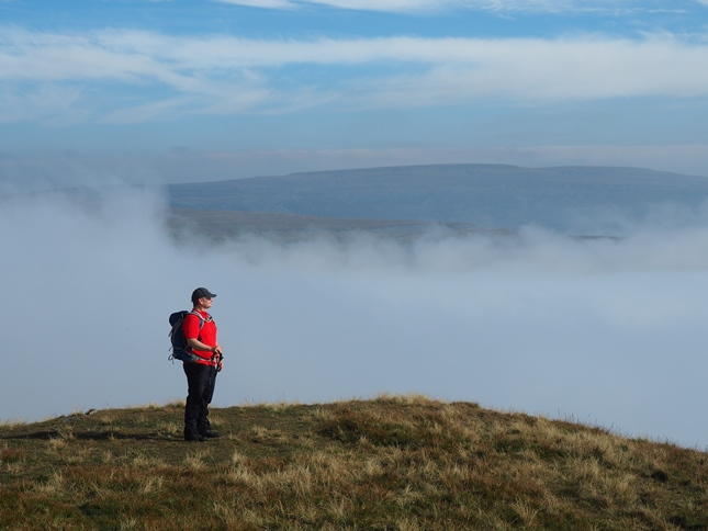 Paul on Murton Pike with Little Fell in the distance