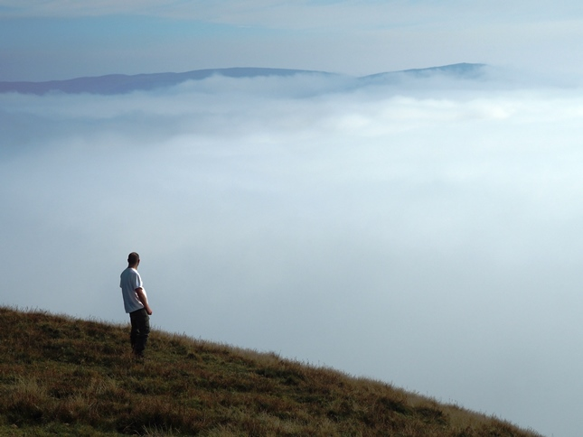 Looking across the inversion towards Roman Fell
