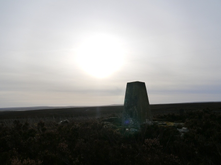 The trig point on Warlaw Pike