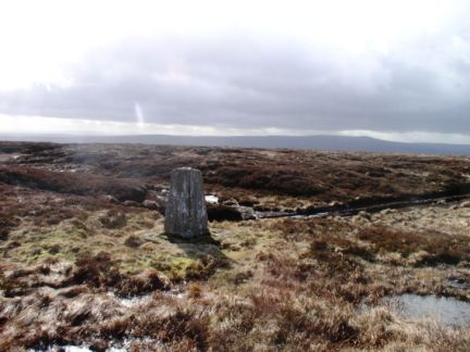The trig point on Westernhope Moor