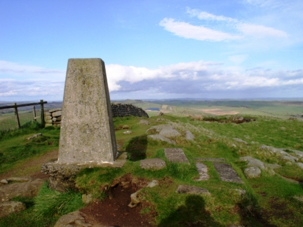 The trig point on Winshield Crag