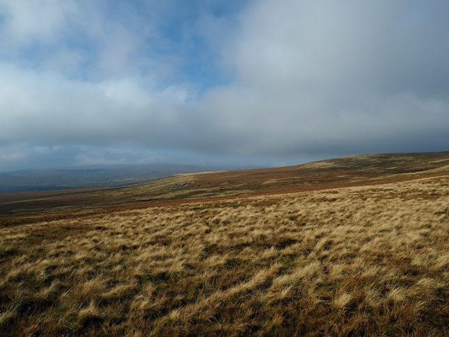 Looking back at Westernhope Moor from James's Hill as the skies begin to clear