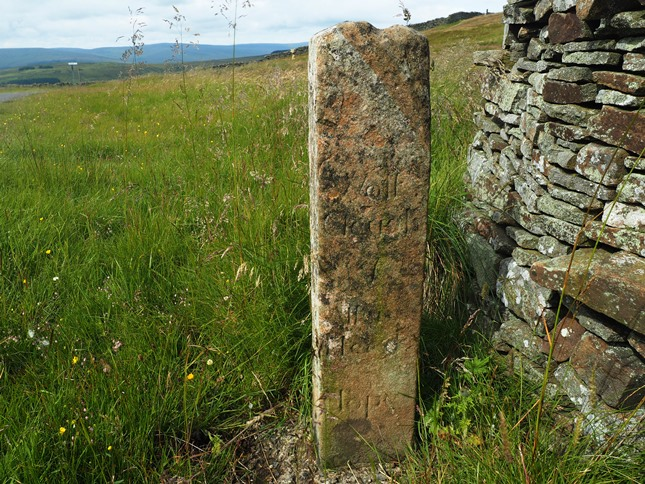 An old guidepost to Wolf Cleugh