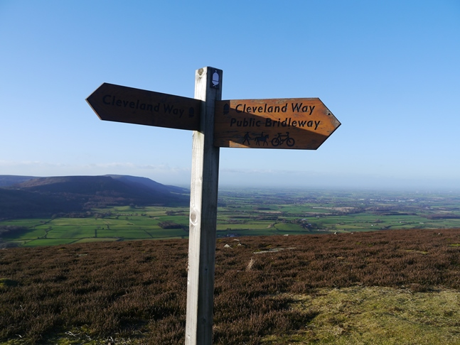 A Cleveland Way sign