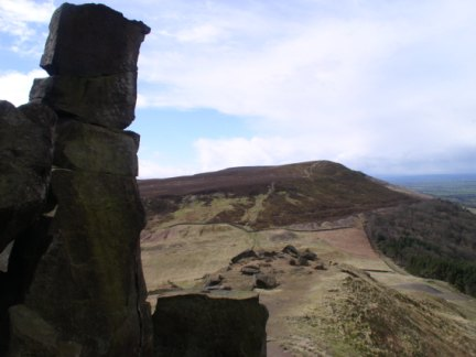 Looking back at Cold Moor from the Wain Stones