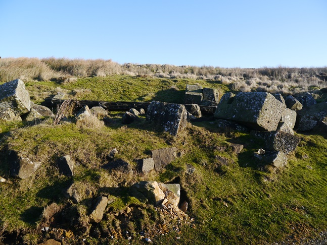 The scant remains of the drum house on Bank Top