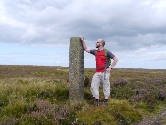 By the boundary stone near Flat Howe