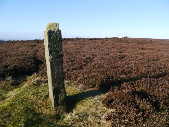The hand post near the Cleveland Way on Greenhow Bank