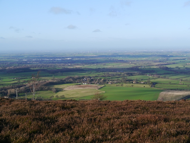 Looking down towards the village of Ingleby Greenhow