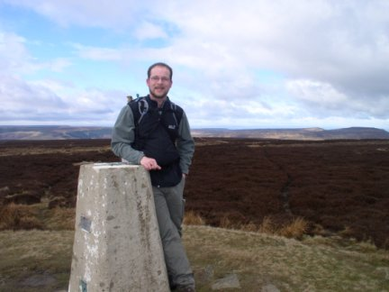 By the trig point on Urra Moor - the highest point in the North York Moors