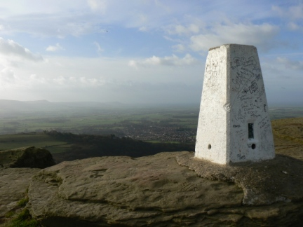 The trig point on Roseberry Topping