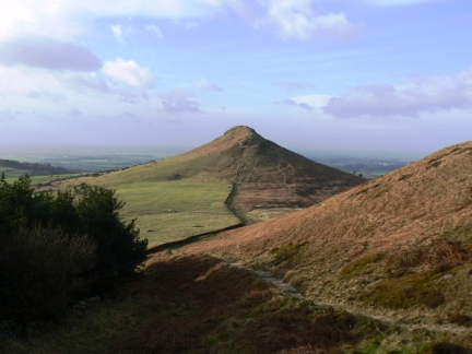Looking back at Roseberry Topping from Great Ayton Moor