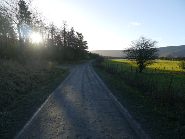 The bridleway leaving Bank Foot on the trackbed of the old Rosedale Railway