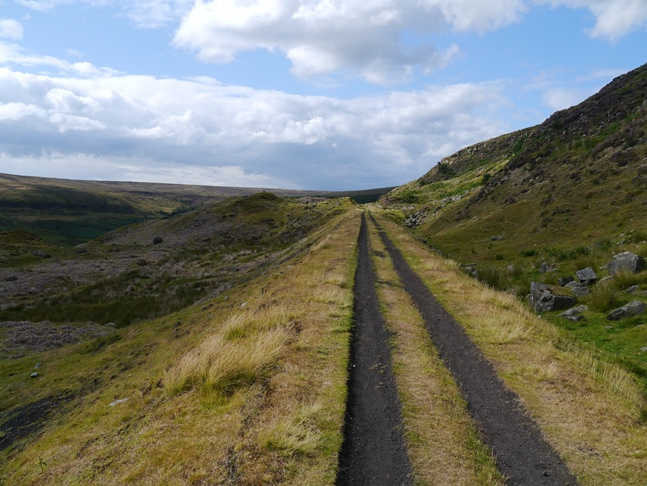 The magnificent path along the route of the old Rosedale Railway