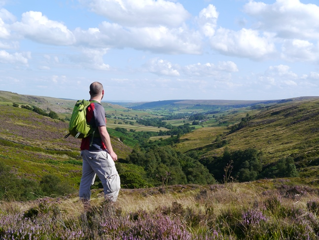 Enjoying the view from the head of Rosedale