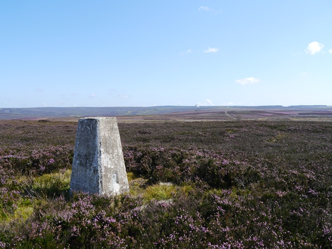 The trig point near Simon Howe