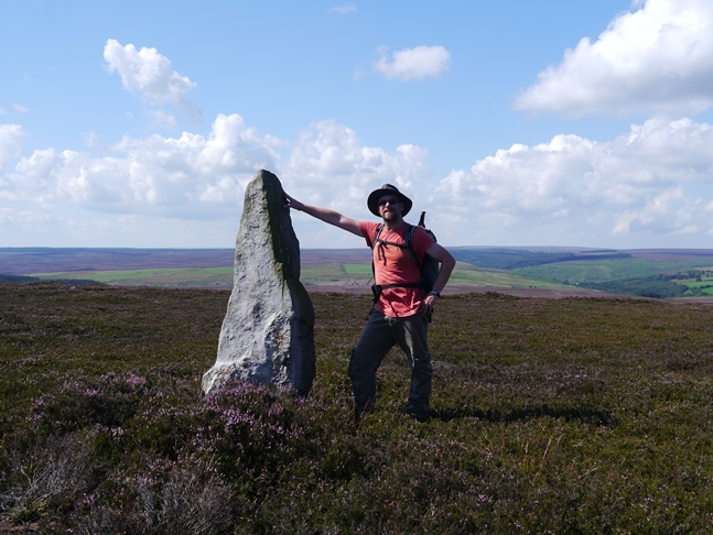 The tallest of the standing stones on Simon Howe