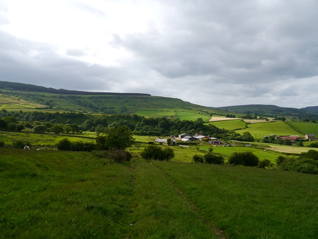 Looking towards Orteley Farms and Trennet Bank
