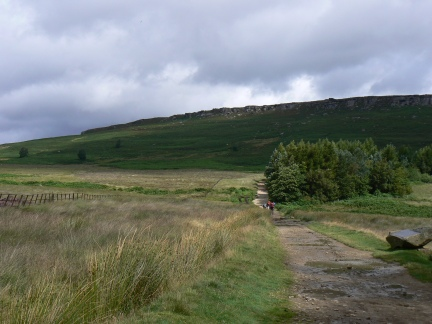 Approaching Stanage Edge