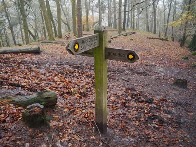 A signpost in Back Forest