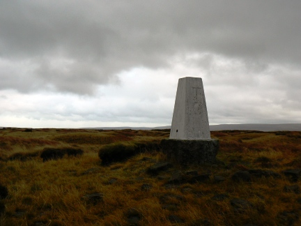 The Black Chew trig point