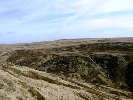 Looking across Crowden Great Brook to Black Hill