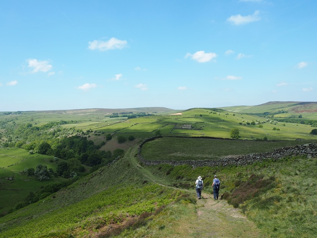 The super path dropping down from Eyam Moor into Bretton Clough