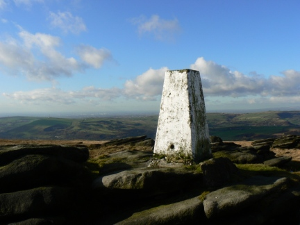 The trig point on Broadstone Hill