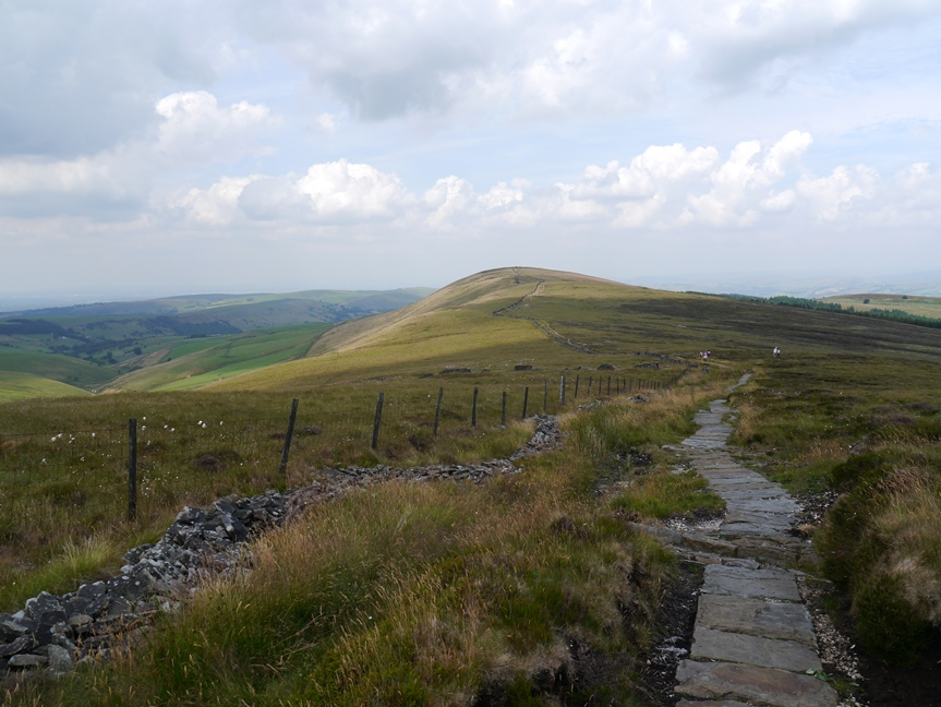 Heading towards Cats Tor on the flagged path from Shining Tor