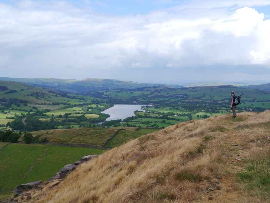 On Castle Naze looking towards Combs Reservoir