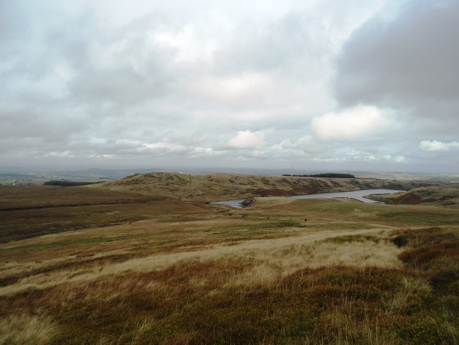 Cook's Study Hill and Snailsden Reservoir from the climb on to Snailsden Pike End