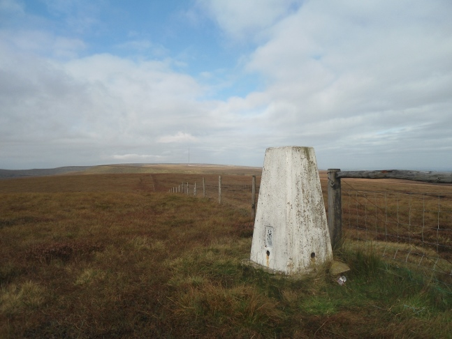 The trig point on Dead Edge End
