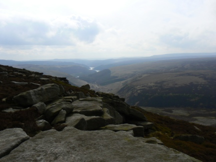 Looking south along the Derwent Valley from Crow Stones