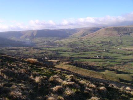 The view of Edale from Mam Tor