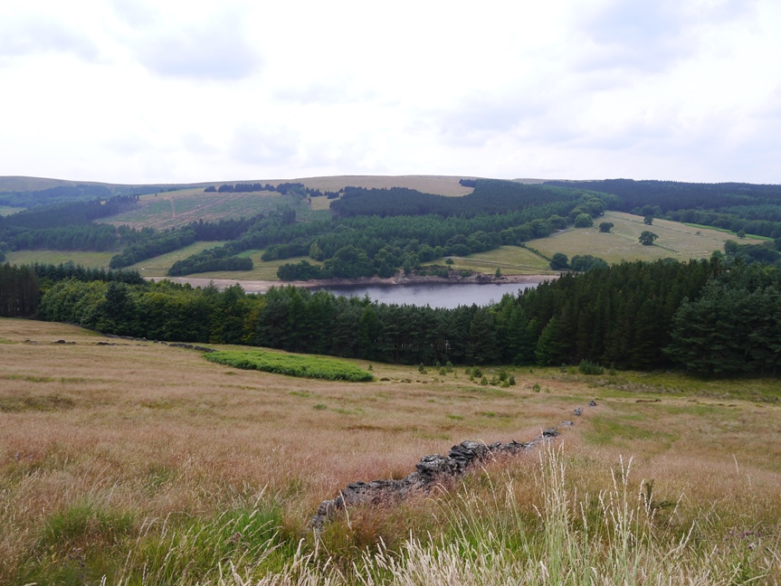 Looking back towards Errwood Reservoir and Foxlow Edge