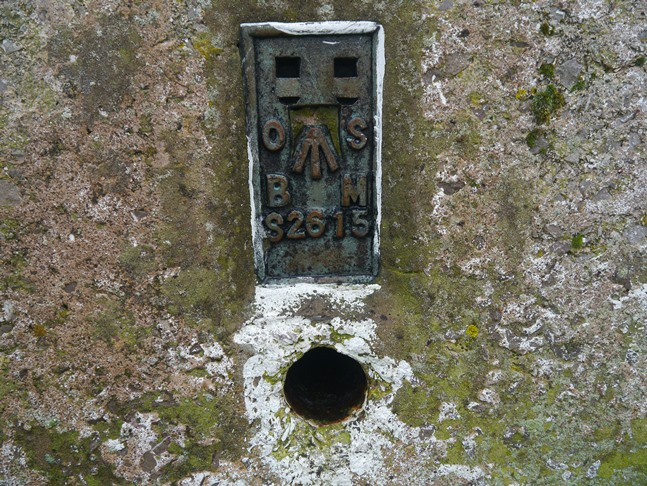 The flush bracket on the trig point