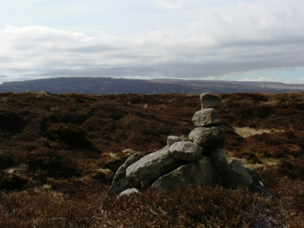 The cairn on the highest point of the Barnsley / Sheffield boundary