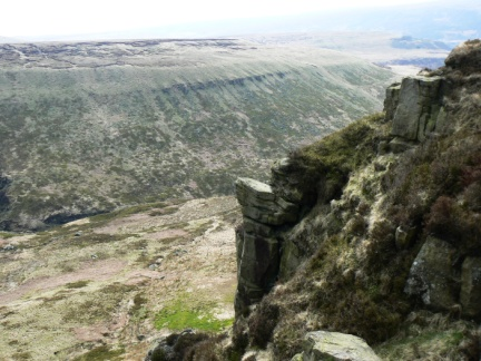 Looking down from Laddow Rocks