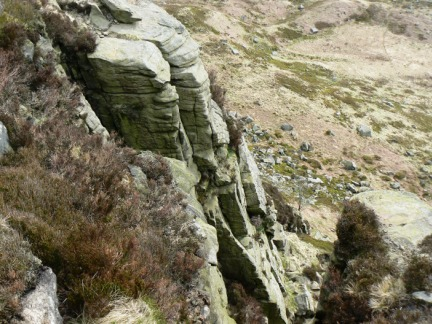 Another view down Laddow Rocks
