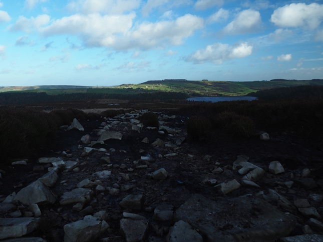 In places the bridleway was rocky and very peaty