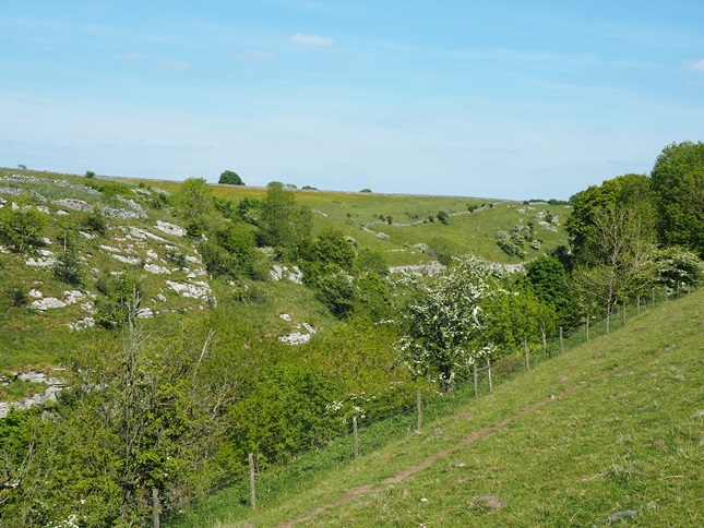 Looking over the upper reaches of Lathkill Dale as I finally climbed out of the valley