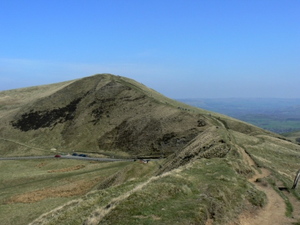 Approaching Mam Tor from Rushup Edge
