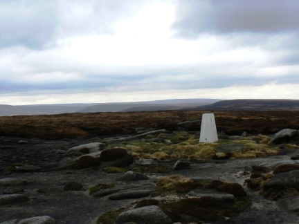The trig point on Margery Hill