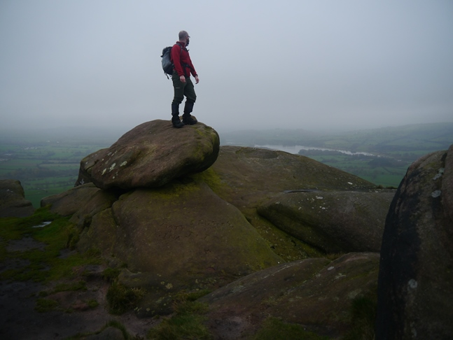 On the summit of Hen Cloud