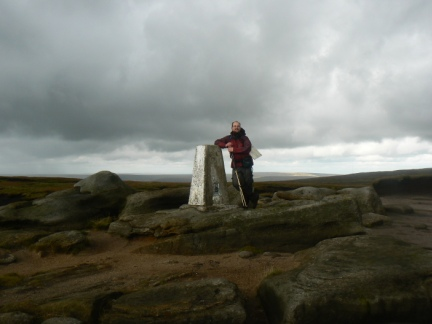 By the trig point on Higher Shelf Stones