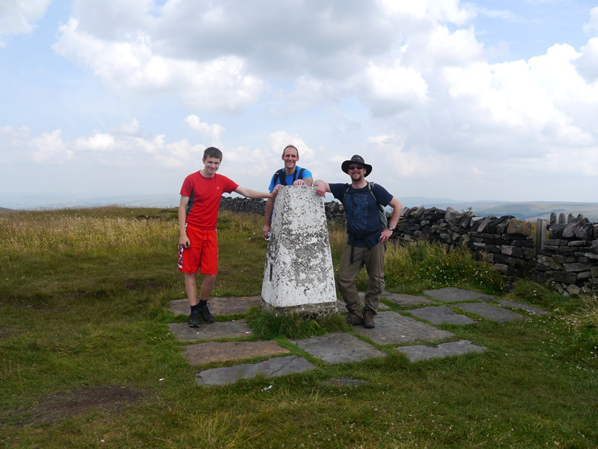 By the trig point on Shining Tor