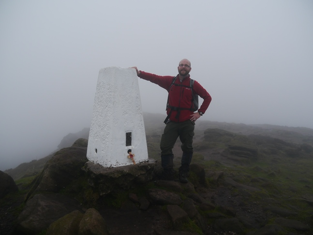 By the trig point on the top of the Roaches