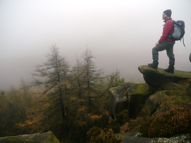 Despite the murk I enjoyed exploring the edge of The Roaches